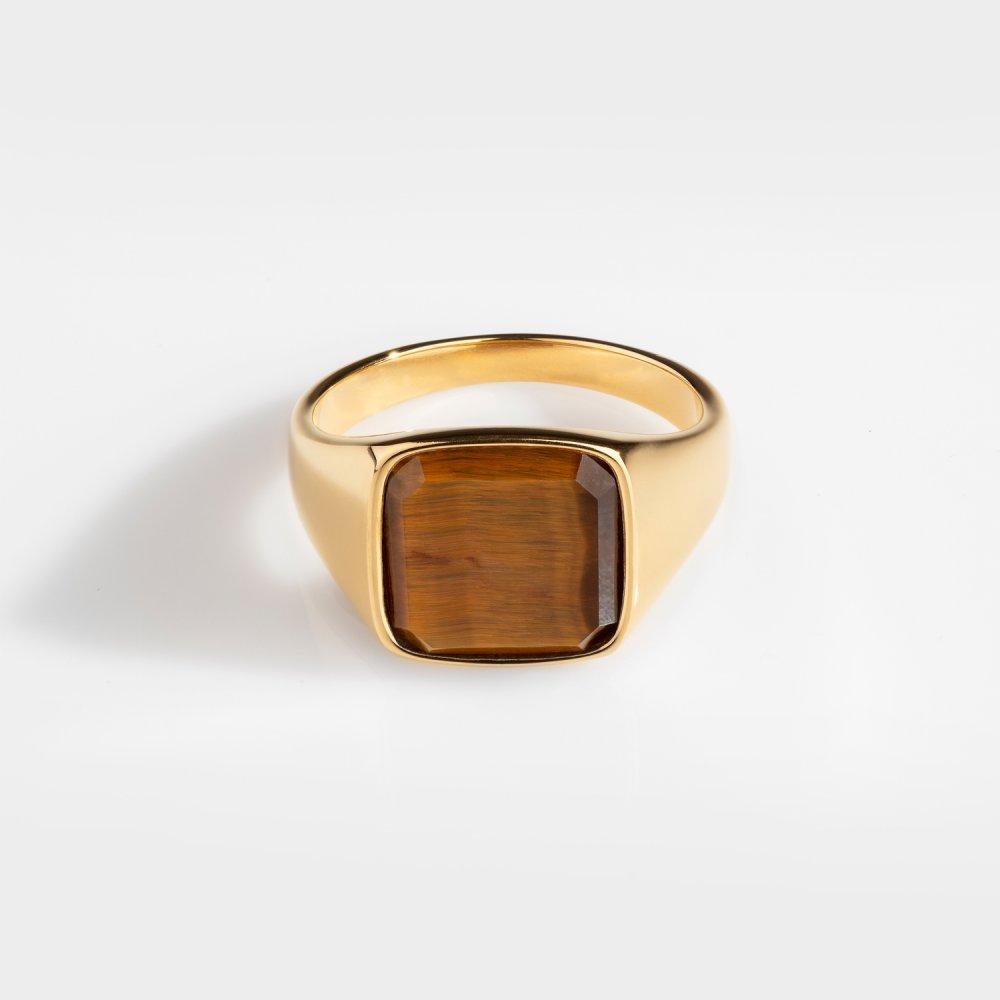 Tigereye Signature - Guldtonet ring