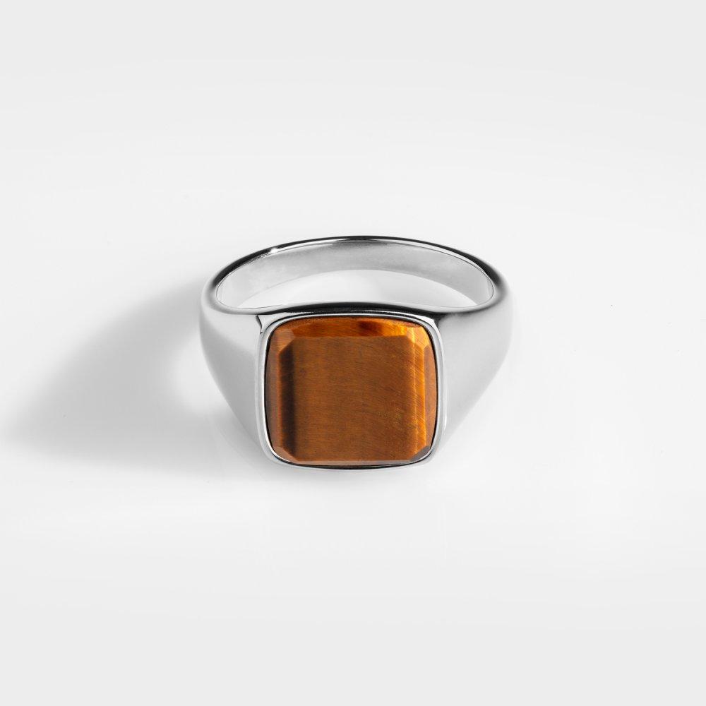 Tigereye Signature - Sølvtonet ring