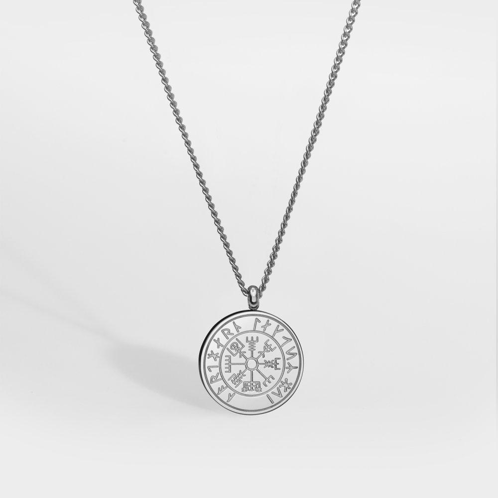 NL Vegvisir halskæde - Sølvtonet