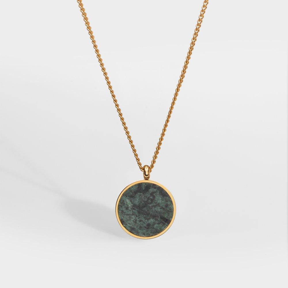 NL Verde Antique halskæde - Guldtonet