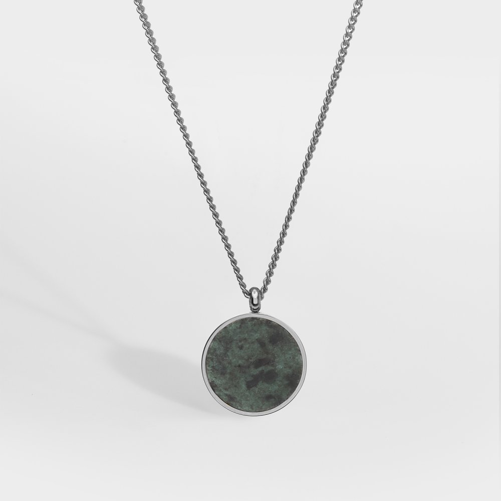NL Verde Antique halskæde - Sølvtonet