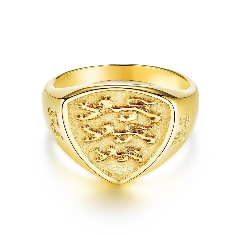 Panthera Polygon Signature - Guldtonet ring
