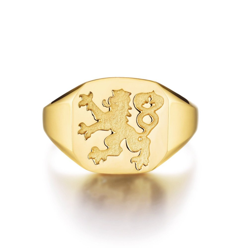 Lionheart Signature - Guldtonet ring