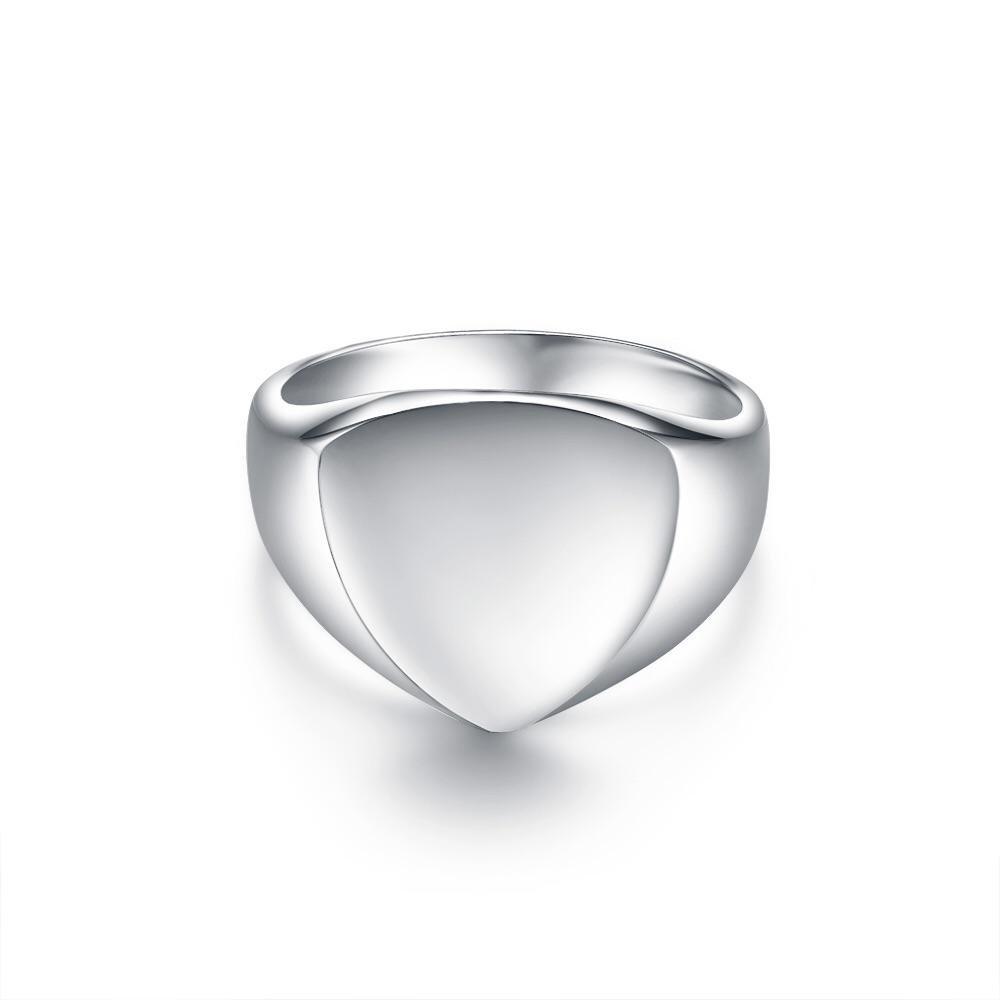 Classic Polygon Signature - Sølvtonet ring