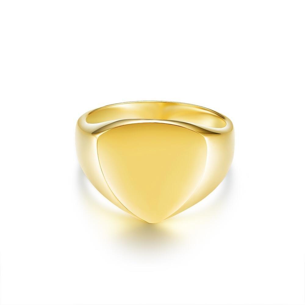 Classic Polygon Signature - Guldtonet ring