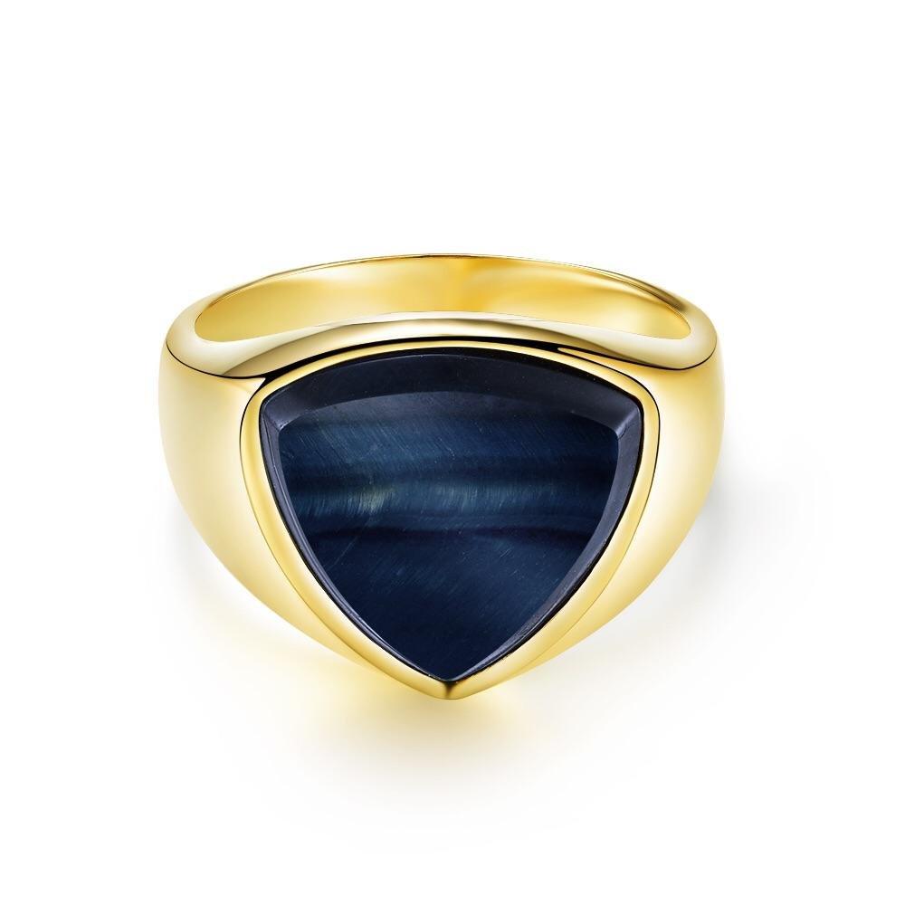 Hawk Eye Polygon Signature - Guldtonet ring