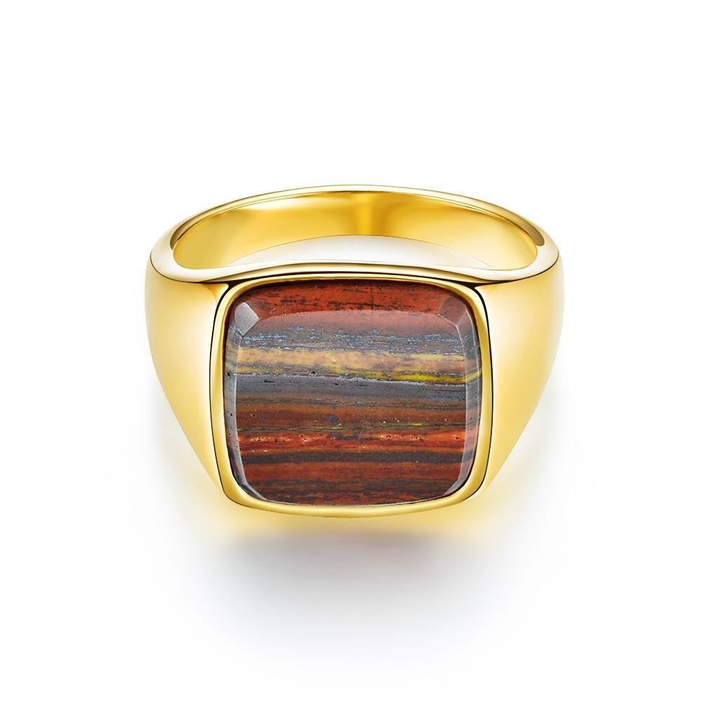 Iron Tigereye Signature - Guldtonet ring