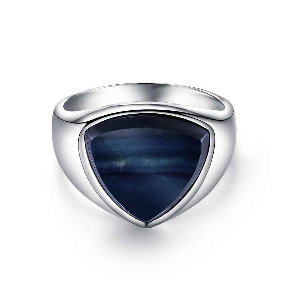 Hawk Eye Polygon Signature - Sølvtonet ring