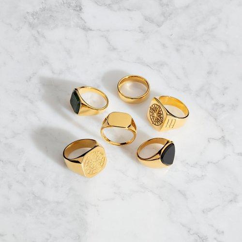 Gouden toon ringen