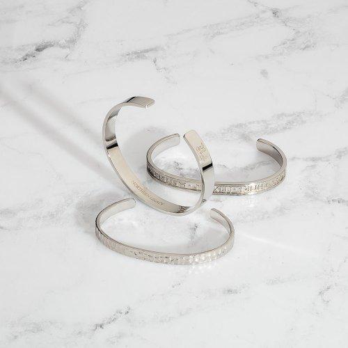 Silver tone bangles