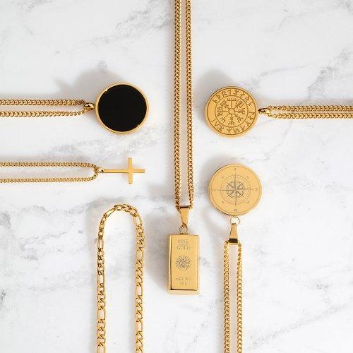 Guldtonede halskæder