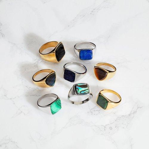 Ringen met stenen