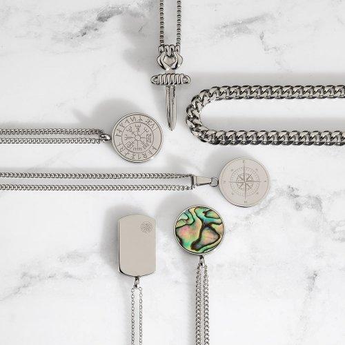 Sølvtonede halskæder