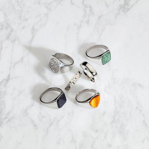 Silver tone rings